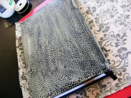 Cover diary with craft glue