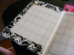 Fold over the edges and glue or tape