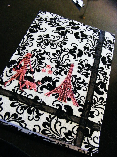 Add unique embellishments to get a beautiful fabric covered diary