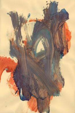 """""""Finger Paint Study of Autumn Colors"""""""