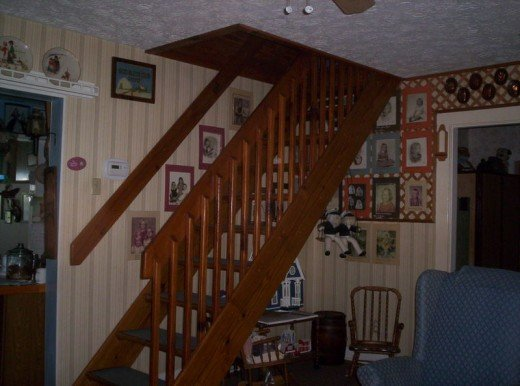 The stairs were made by a master carpenter.  I sanded and stained them.