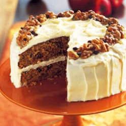 Apple Spice Cake with Cider-Cinnamon Buttercream