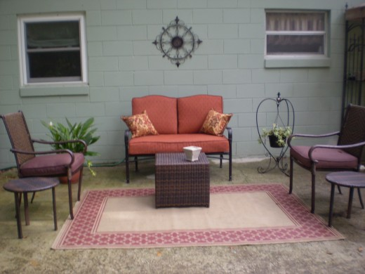 Outdoor Living Room on Back Patio