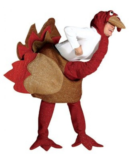 A turkey outfit has to be the most popular Thanksgiving costume.