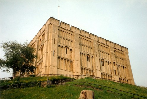 Norwich Castle, seen from the SW corner