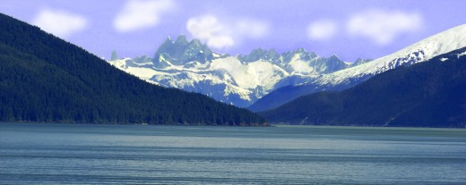 Alaska skyline, makes me wonder why I am in Texas.