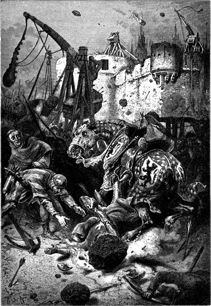 A scene from a siege