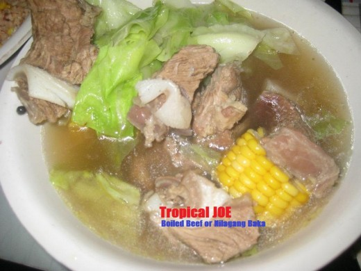 Boiled Beef or Nilagang Baka