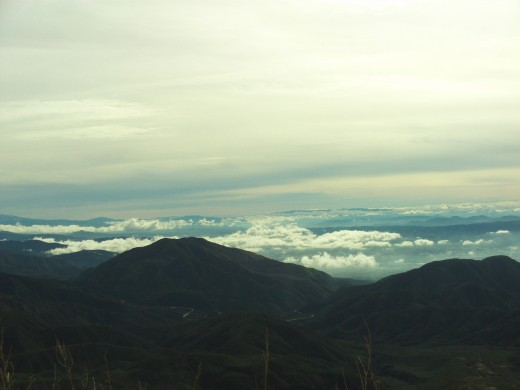 Clouds floating above the San Beranrdino Valley.  Looking down from the Rim.