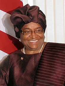 photo credit: wikipedia.com Ellen Johnson Sirleaf, President of Liberia