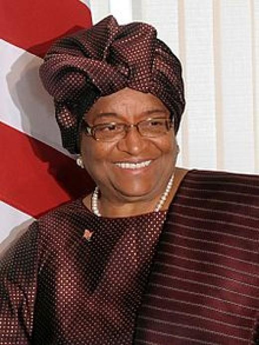 photo credit: wikipedia.com Ellen Johnson Sirleaf, President of Liberia