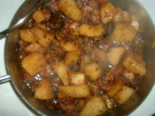 Spicy Sausage Coins and Potatoes