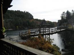 Footbridge at Mohonk Mountain