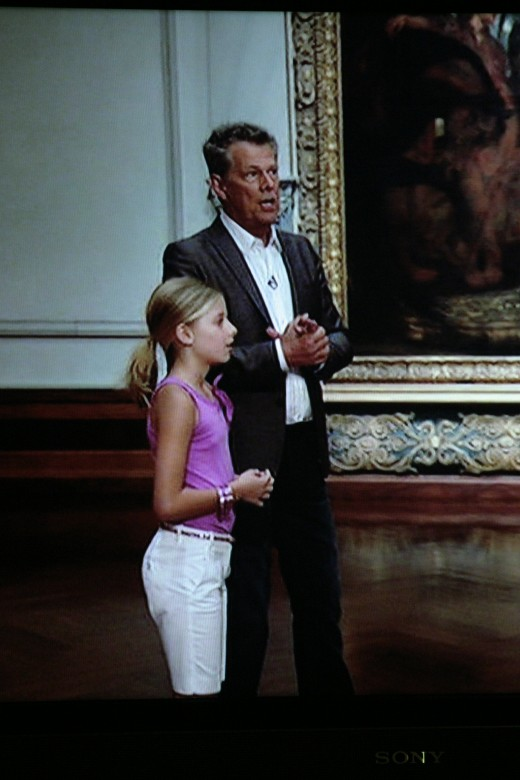Jackie Evancho and her mentor David Foster