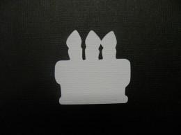 Birthday cake shadow layer