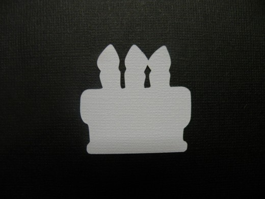 Birthday cake shadow layer