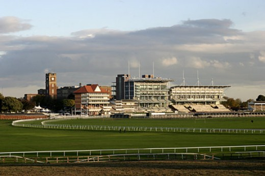 Morning clouds rise over York race course