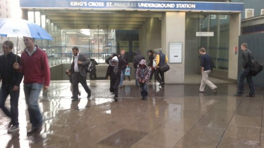A Rainy Arrival At Kings Cross Stn