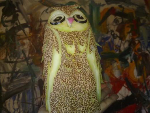 Cucumber becomes an owl.