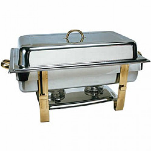 Rectangular Chafing Dish - Gold Plated.