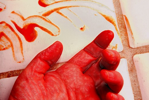 She had to muster the strength to leave him a message, even if it meant using her own blood...