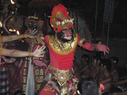 Haute Couture, Makeup and Accessories used in the Kecak Fire & Trance performance, Ubud, Bali, Indonesia.