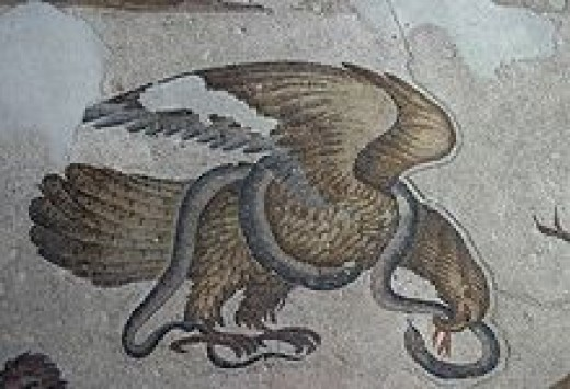 A sixth century floor mosaic from the imperial palace