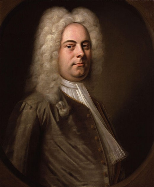 "George Frideric Handel, music composer of the ""Messiah."""