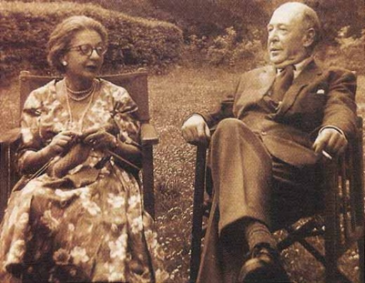 Joy Davidman and C.S. Lewis.  Lewis was also called Jack by his friends.