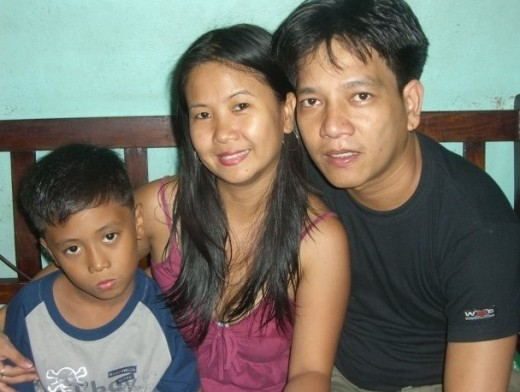 The Limbagos before the tragedy.  (L to R)  Marc, Juanita and Edwin