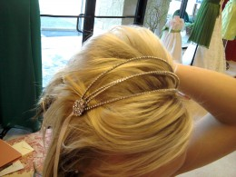 Adding shine to your hair accessories can make your eyes sparkle too!