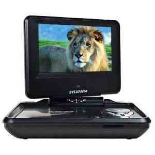 "7"" DVD player great for your car journey"