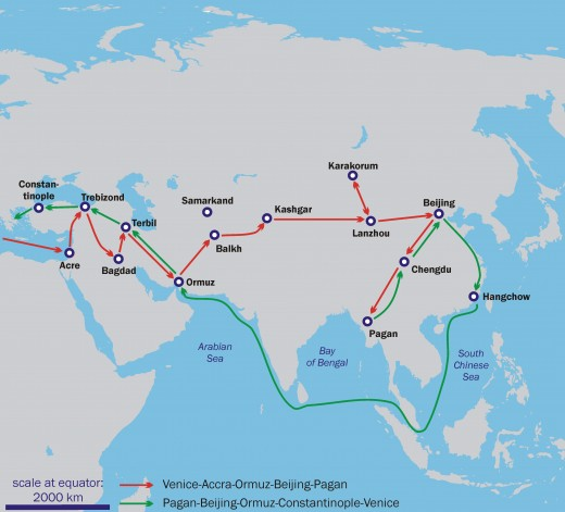 Route of Marco Polo's Travels