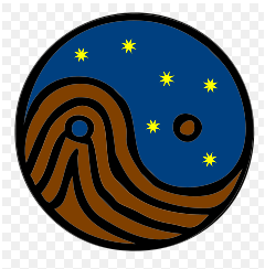 The Tai Chi symbol, showing yin as Earth and yang as heaven.  Qigong grounding requires connecting with the Earth's yin energy.