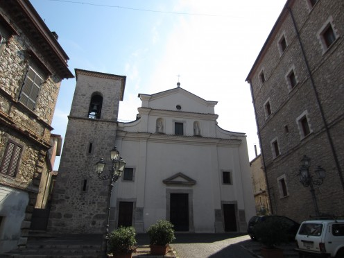 The church of St. Peter the Apostle in Amaseno, Italy