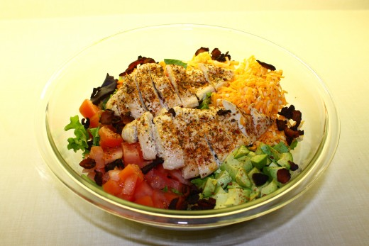 Chicken and Bacon Club Salad