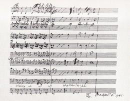 """Handel's score of the """"Hallelujah"""" chorus written in his own hand."""