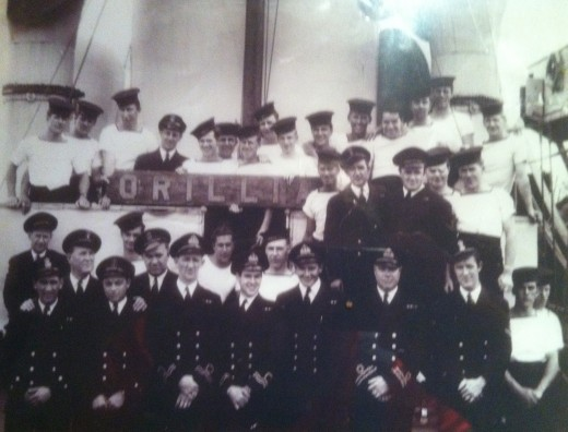 Dad is on the bottom row 2nd from the right. HMCS The Orillia