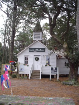 Historic Corolla School House is now Corolla Wild Horse Museum and headquarters