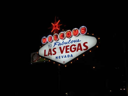 """Welcome to Fabulous Las Vegas"" sign that welcomes visitors at the beginning of the strip."