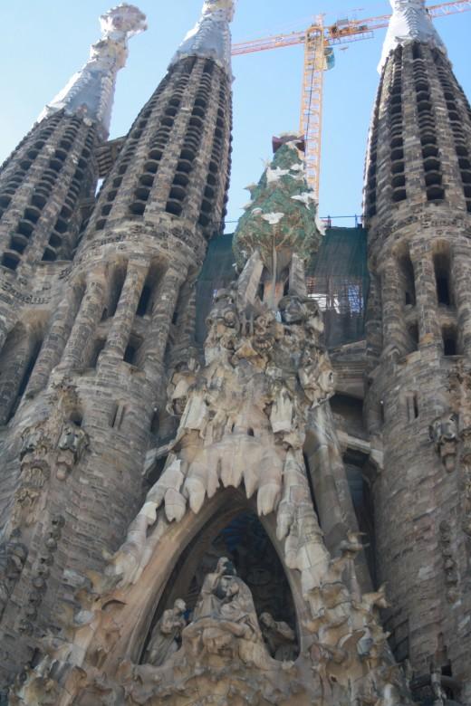 Antonio Gaudi's Sagrada Familia in Barcelona, Spain