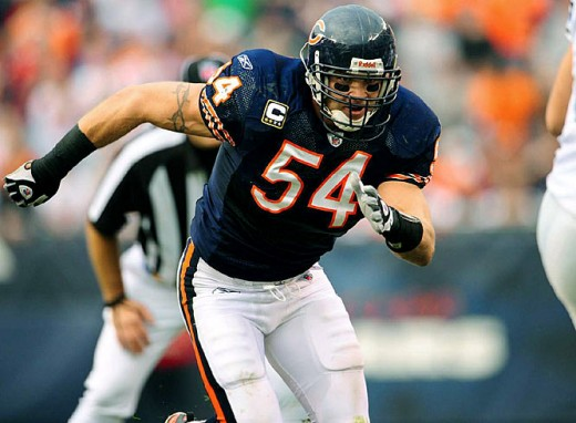 Urlacher and the Bears will take on the Lions in a defensive showdown this Sunday