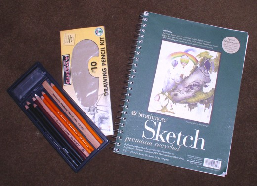 These drawing materials can be purchased for less than $20 dollars or less at your local art store.