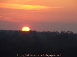 Sunset in South Carolina during the wild fires