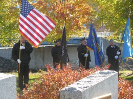 Flags at Veterans Day Ceremony