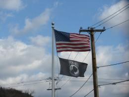 Flags in Rosendale
