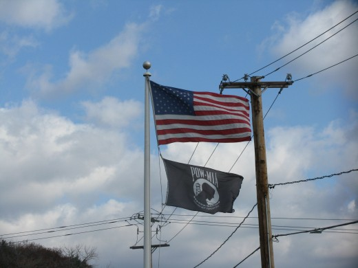 Flags in Rosendale
