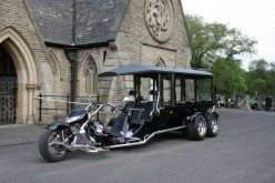 Bikers Funerals, Motorcycle Hearses, Biker Black Hawk Hearse, Trike Hearse, Funerals For Bikers