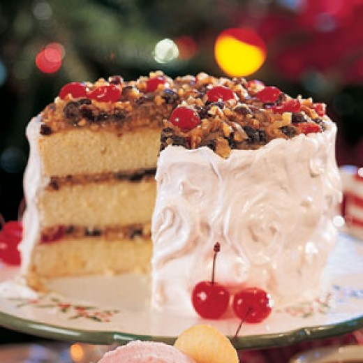 Here is a Lane Cake made with the Cherries.