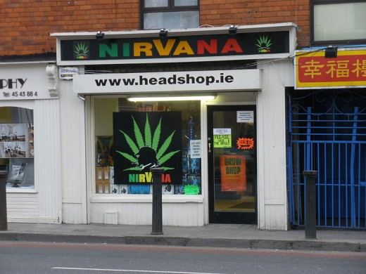 Head shop on Upper Clanbrassil Street, Dublin, Ireland.